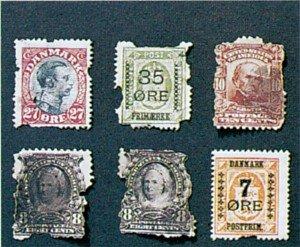 Sølvkre i frimerkesamling